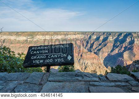 Glen Canyon Nr, Az, Usa - Oct 2, 2020: The Roaring Spring Canyon