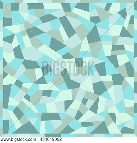 Mosaic Floors Of Marble Chips. Floors Terrazzo, Polymer Mosaic Seamless Pattern. Abstract Blue Backg