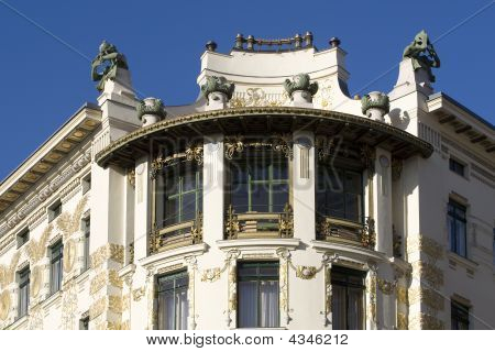 Viennese architecture Art Nouveau Otto Wagner Architecture at the left Wienzeile poster