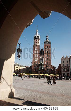 View To Mariacki Church, Krakow
