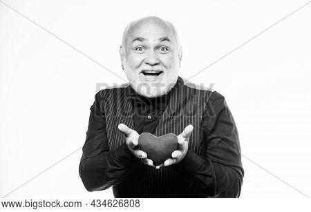 I Believe In Love. Donor Transplant. Love And Romance. Bearded Man Has Heart Failure. World Heart Da