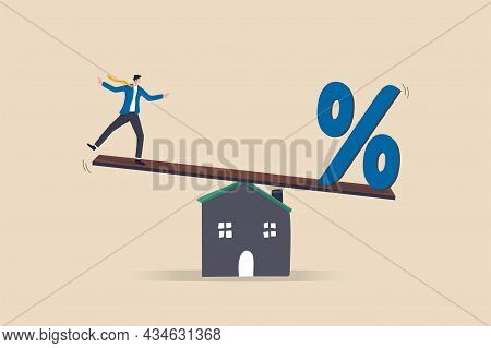 Mortgage Payment, House Loan Interest Rate Or Balance Between Income And Debt Or Loan Payment, Finan