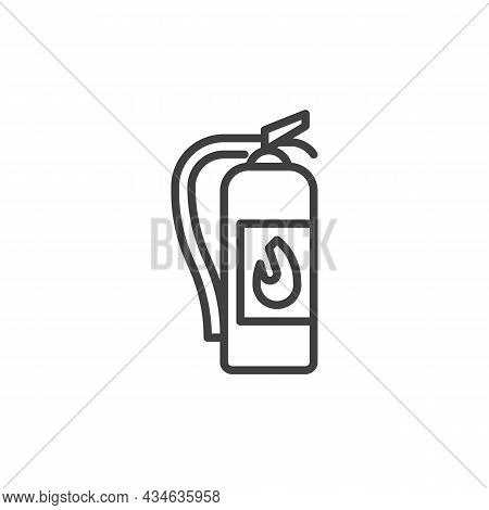 Fire Extinguisher Line Icon. Linear Style Sign For Mobile Concept And Web Design. Extinguisher Outli