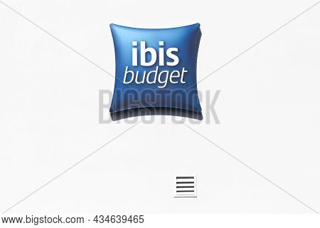 Macon, France - March 15, 2020: Ibis Budget Logo On A Wall. Ibis Budget Is An Economy Hotel Brand Sp