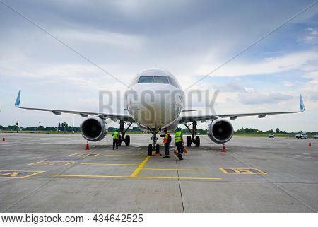 Ukraine, Kyiv - September 1, 2021: Passenger Plane Of The German Airline Eurowings. European Low-cos