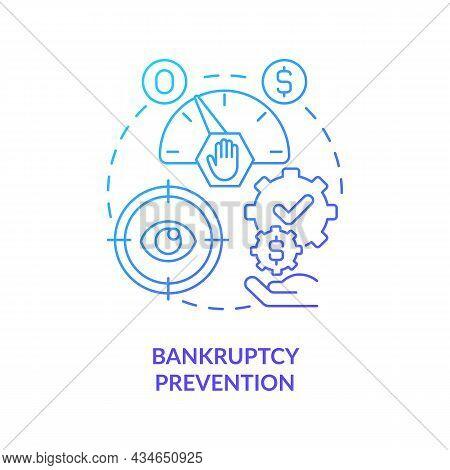 Bankruptcy Preventive Measures Concept Icon. Government Bailouts. Crisis, Recession Prevention. Fina
