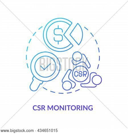 Csr Monitoring Frramework Concept Icon. Corporate Social Responsibility Activities And Ecaluation Pr
