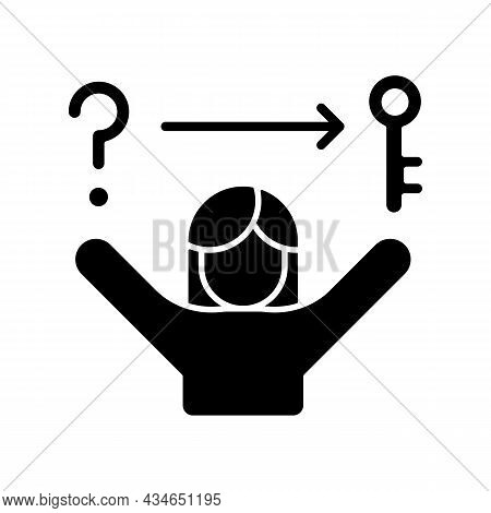 Problem Solving Skills Black Glyph Icon. Critical Thinking. Analytical And Logical Skills. Evaluatio