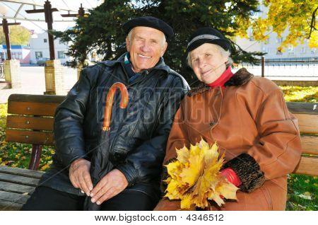 Grandparent On Bench