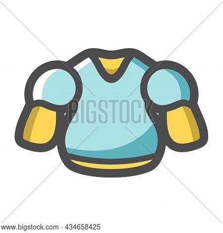 Hockey Player Chest Protector Vector Icon Cartoon Illustration
