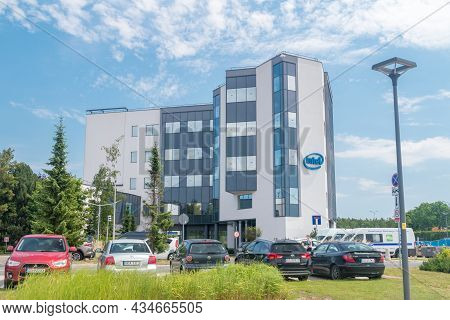 Gdansk, Poland - July 7, 2021: Intel Corporation Campus Building. Intel Corporation Is An American M