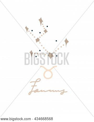 Hand Drawn Vector Abstract Stock Graphic Simple Astrology Celestial Illustration Constellation Colle