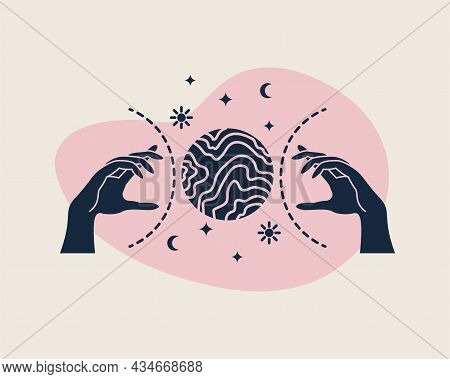 Vector Magic Illustrations With Mystery Symbols. Magical Cards.