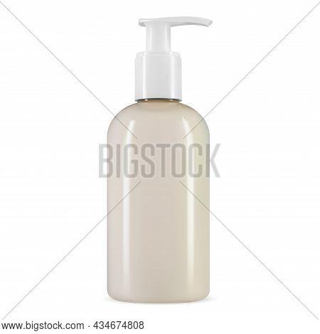 Liquid Soap Pump Bottle. Hand Sanitizer Container, Coronavirus Cleaning Fluid. Body Lotion Dispenser