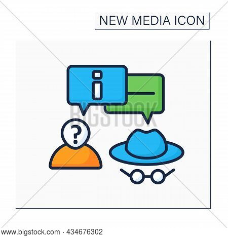 Anonymous Color Icon. Anonymous Communication. Private Chat. Interact Around Information Anonymously