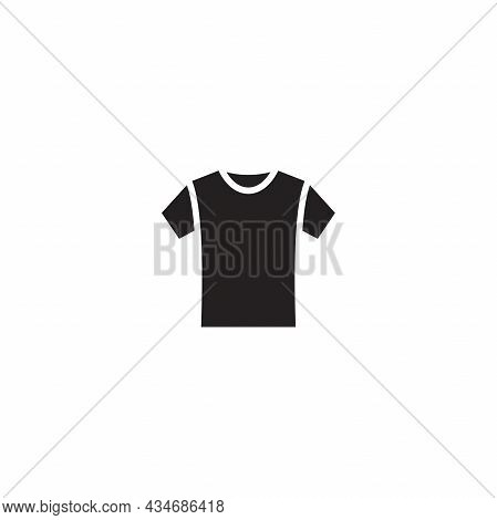 Simple Flat T Shirt Icon Illustration Design, Silhouette T Shirt Symbol Template Vector