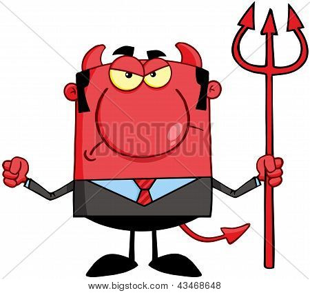 Angry Devil With A Trident