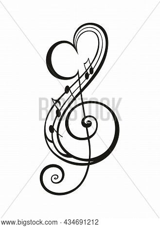 Decorative Musical Symbol Note Background Icon For Your Design