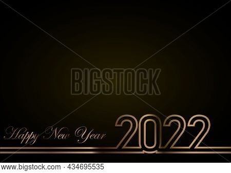 2022. 2022 Text. 2022 Happy New Year. 2022 Vector Design Illustration. 2022 Number Design Template C