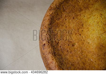 Concept Homemade Fall Baking With Pumpkin And Food Ingredients. Cooking Pumpkin Pie. Texture Of Bake
