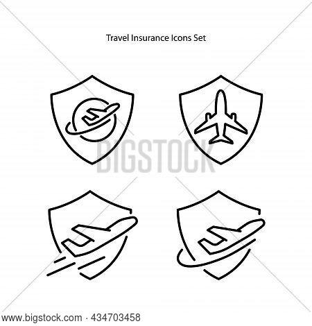 Travel Insurance Icons Isolated On White Background. Travel Insurance Icon Trendy And Modern Travel