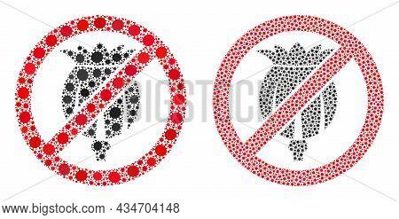 Vector Covid Mosaic Forbid Opium Poppy Created For Vaccination Purposes. Mosaic Forbid Opium Poppy I