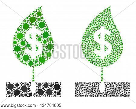 Vector Covid-2019 Composition Dollar Sprout Designed For Medicare Wallpapers. Mosaic Dollar Sprout I