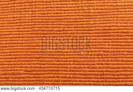 Linen Fabric Rough Texture. Christmas Canvas For Textiles, Clothing, Interior, Creativity In Scandin