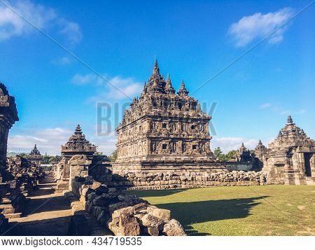 Candi Plaosan Or Plaosan Temple In Plaosan Complex Temple. One Of The Javanese Buddhist Temples Loca