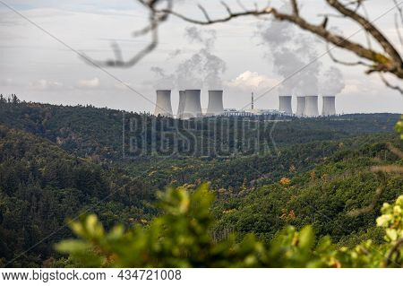 Forest And Nuclear Power Plant - Near Dukovany Village, Czech Republic, Europe