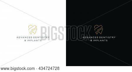 Modern And Unique Dental And Dental Implant Logo Design 3