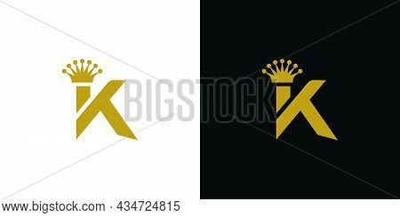 Modern And Unique Letter K Initial King Logo Design
