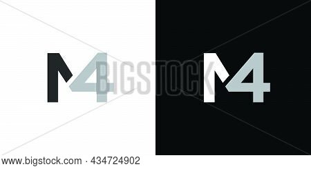 Modern And Unique Letter M4 Initial Logo Design