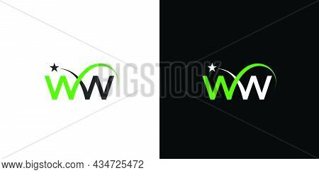 Simple And Modern Ww Letter Initials Logo