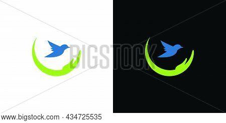 Simple And Professional Save Rare Birds Logo Design