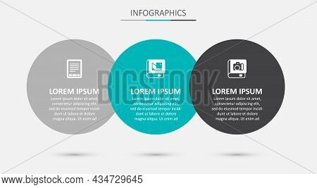 Set Book About Geometry, E-book Reader And Photo Album Gallery. Business Infographic Template. Vecto