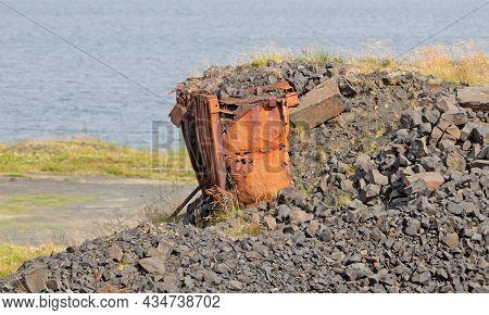 Details Of An Abandoned Naval Base On Iceland (hvítanes, Hvalfjördur). Used In World War Ii By The B