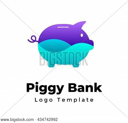 Piggy Bank. Creative Vector Logo Template. Financial Investments. Abstract Financial Sign. Business