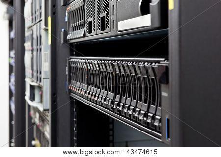 Server Rack Hard Disks Detail