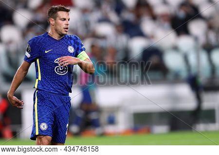 Torino, Italy. 29 September 2021. Cesar Azpilicueta  Of Chelsea Fc  During The  Uefa Champions Leagu
