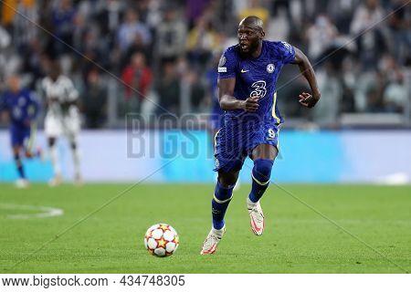 Torino, Italy. 29 September 2021. Romelu Lukaku Of Chelsea Fc  During The  Uefa Champions League Gro