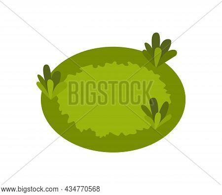 Isometric 3d Vector Park Element. Grass Or Flower Bed. Green Environment Landscape Design Illustrati