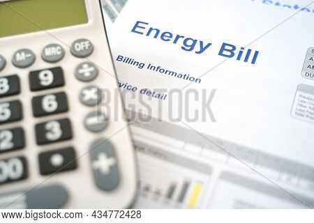 Electric Bill Statement And Home Energy Consumption