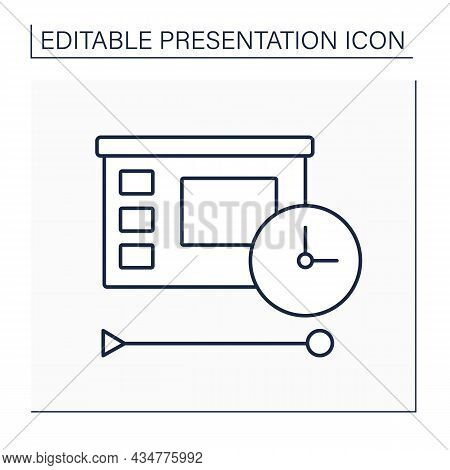 Beginning Line Icon. Introduction. Conveying Information From Speakers To Audience. Presentation Con