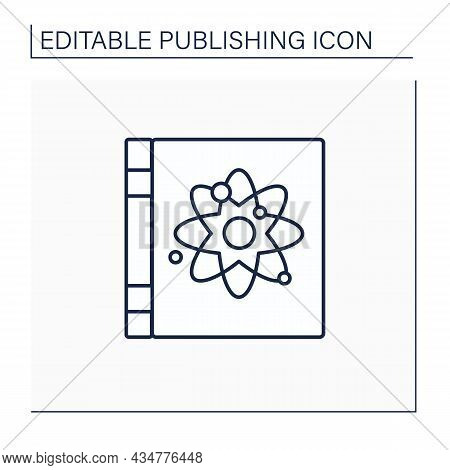 Non Fiction Line Icon. Book With Realistic Plot. Truly Story Situations.publishing Concept. Isolated