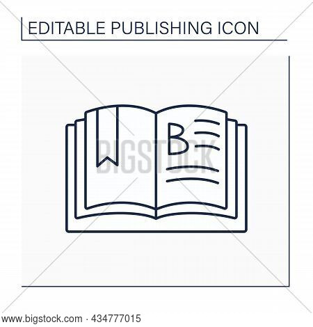 Chapter Line Icon. Main Division Of Book.separate Parts Into Which Book Is Divided. Chapter With Num