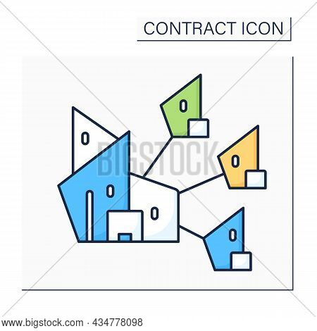 Parent Company Color Icon. Company Has Controlling Interest In Other Enterprises. Distance Controls