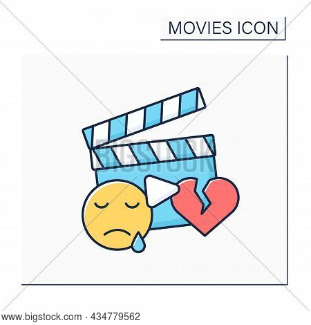 Drama Movie Color Icon. Romantic Plot. Love Story With Broken Heart. In-depth Character Development,