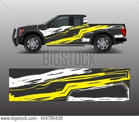 Graphic Abstract Stripe Racing Modern Designs For Wrap Vehicle, Race Car, Speed Offroad, Rally, Adve