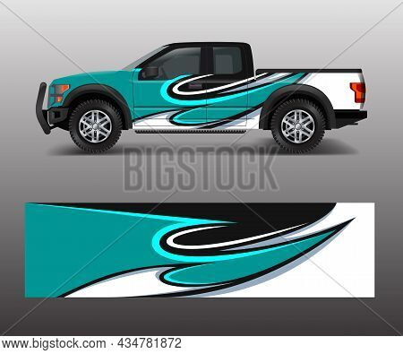 Graphic Abstract Stripe Designs For Truck Decal, Cargo Van And Car Wrap Vector